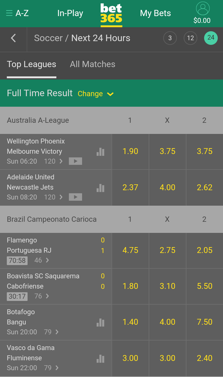 bet365 interface