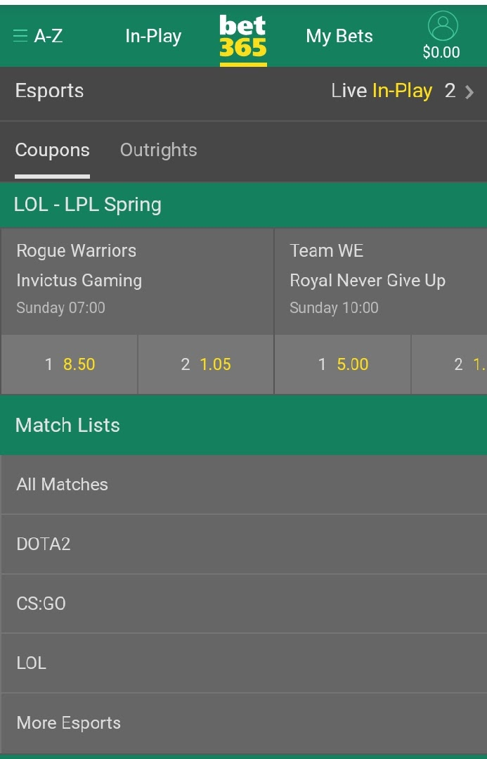 bet365 coupons
