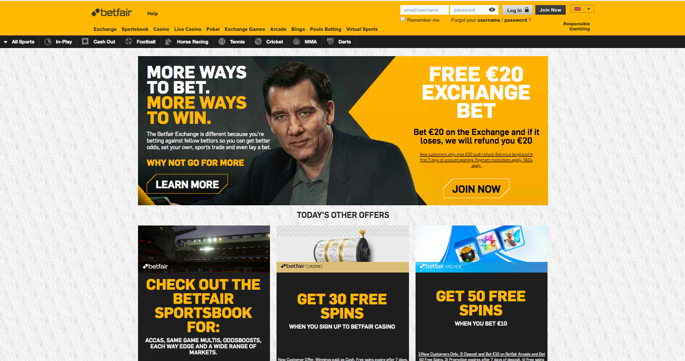 main page BetFair