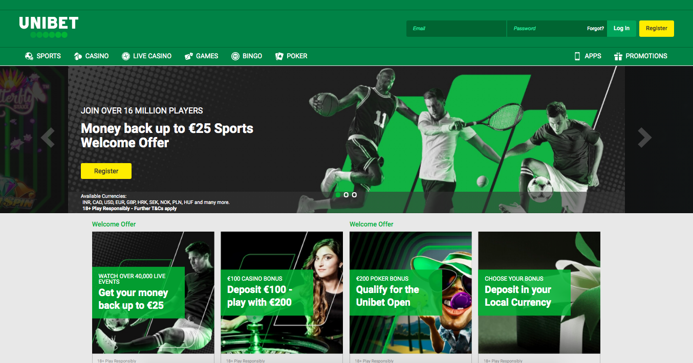 main page Unibet