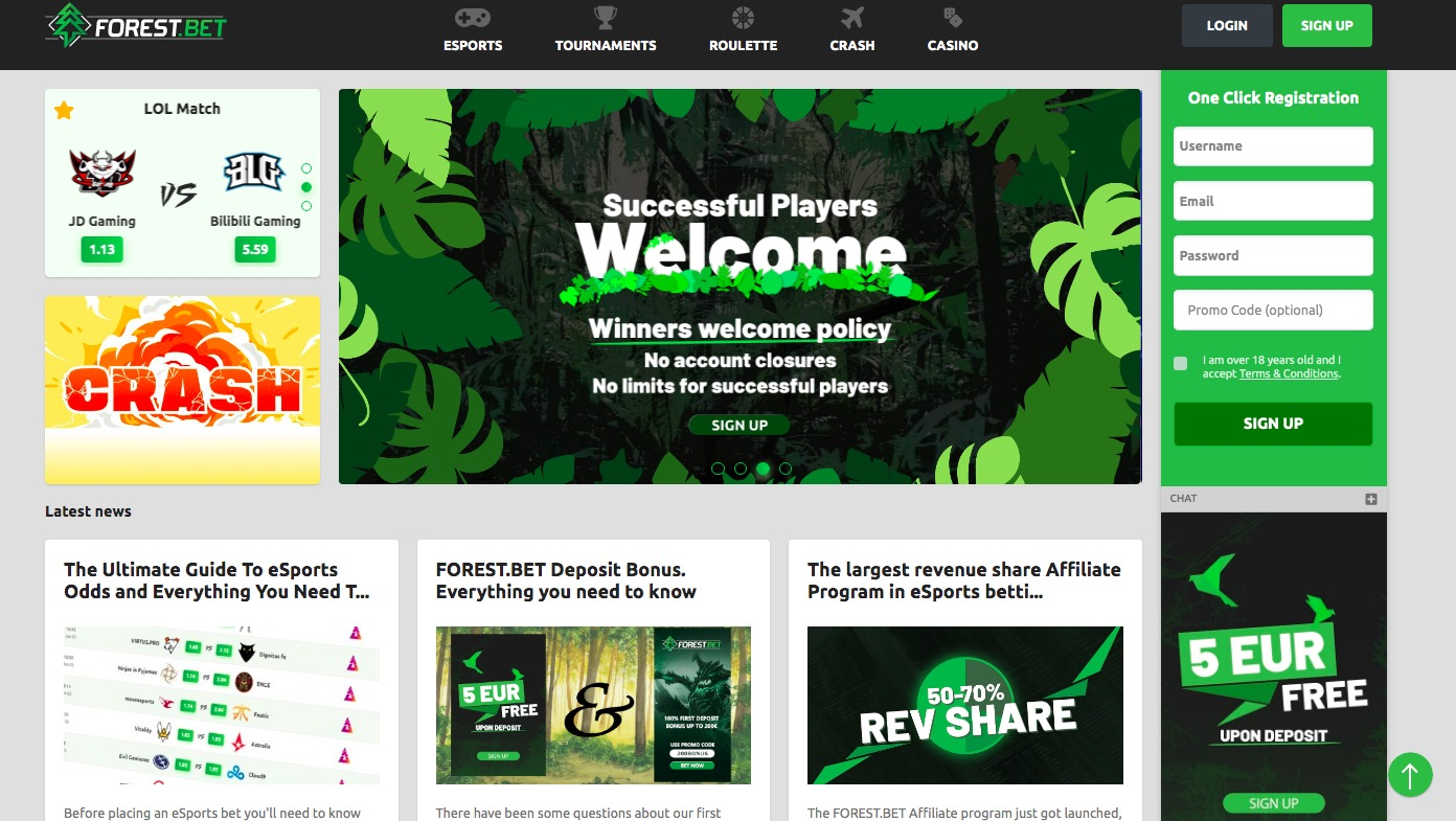 Forest.Bet main page